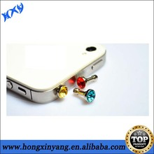 crystal plug for iphone ear cap