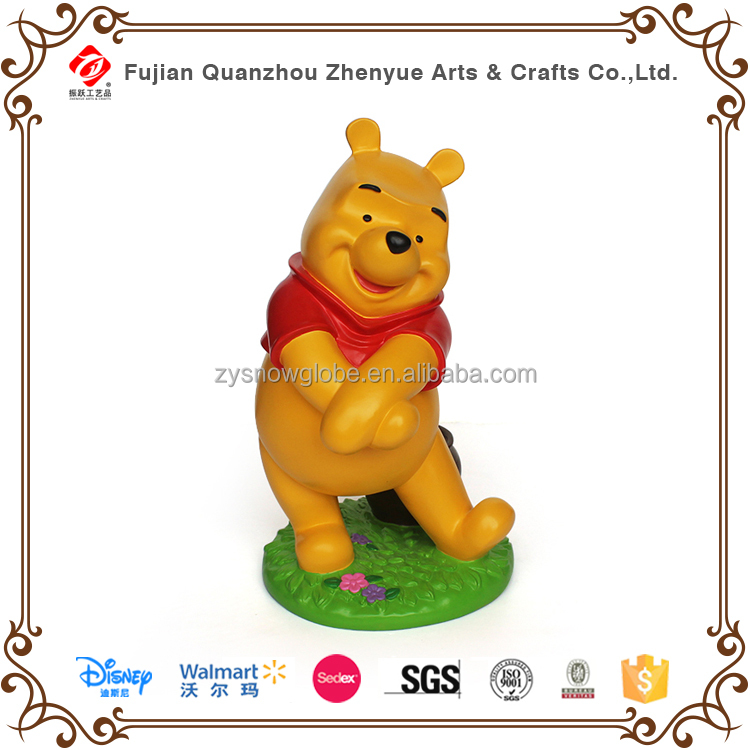 Cute resin disney winnie sculpture