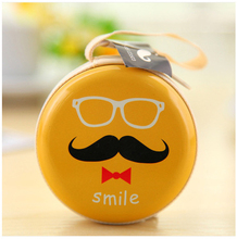 Fashionable Zipper Lock Round Souvenir Coin Purse New Arrival, Tin+linen Details About New Mini Beard Tin Coins Bag Wallet Pouch