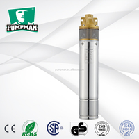 4SKM-100 2015 PUMPMAN new high quality 4'' brass impeller 1hp submersible water pumps 220v