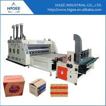 Chinese supplier Automatic feeding lithography printing and slotting machine for carton box making