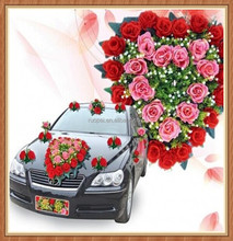 High Demand Plastic car Flower For Decoration