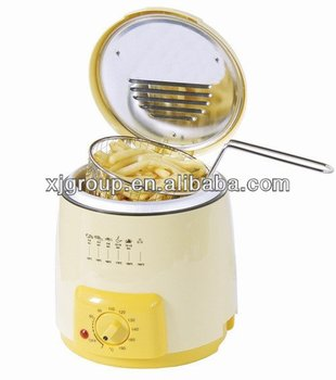 XJ-2K960 0.9L round deep fryer function