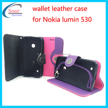 China manufacturer mobile phone case for cell phone ,wallet phone case for Nokia lumin 530