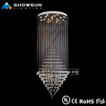 art deco led stair crystal light fixtures