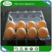 Supermarket PET clear quail/chicken egg packing trays plastic blister packaging