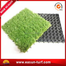 garden decorative interlocking artificial grass tile mat