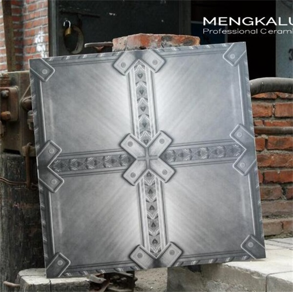 industrial iron and steel textured matte tile