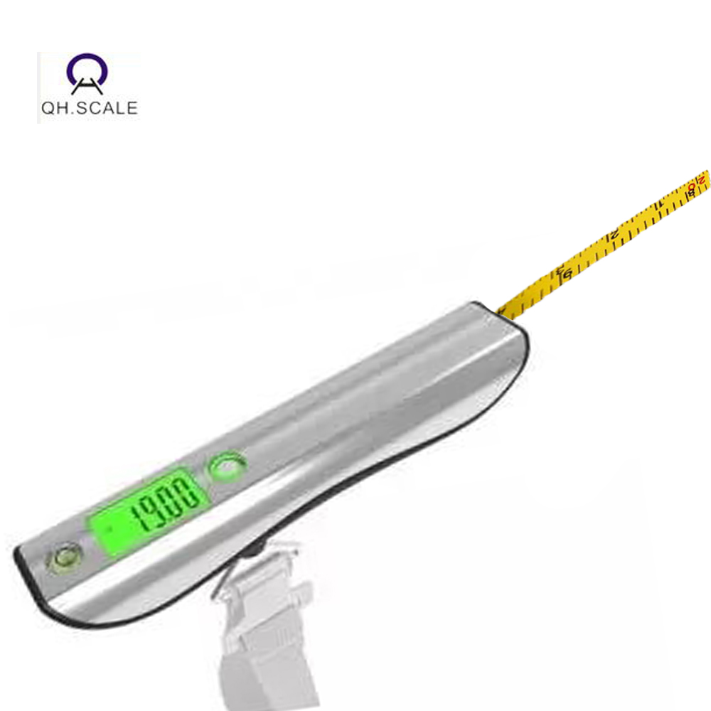 OCM backlit go travel handy pocket length measuring luggage weighing scale for suitacse with 1M tape measure ruler 50kg/10g
