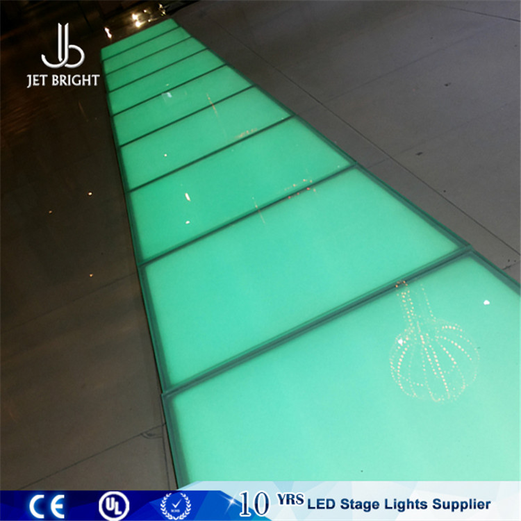 Diy led strip light color change vinyl dance floor for disco