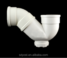 white color factory price upvc water drainage pipe fittings p bend