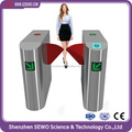 Access control biometric fingerprint system electronic flap turnstile barrier gate