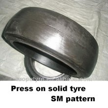 trailler tyre, press-on tyre10*6*61/4,press-on solid tyre