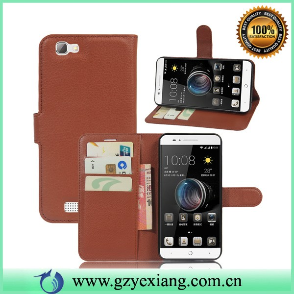 magnet leather flip case for zte blade a610 back cover case