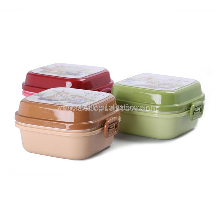 Peter Childrens Kids Plastic Lunch Snack Boxes Picnic School Snack Pot
