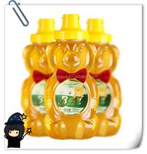 Hot sale online shopping transparent cute teddy bear shape honey bottle food grade 8oz 12oz 16oz pet plastic squeeze bottle