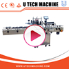 Automatic flat label applicator/flat labeling machine for plastic bottles