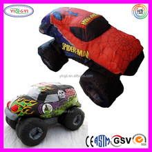 D653 Soft SUV Truck Sublimation Printed Car Toy Stuffed Red Plush Car