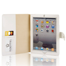 Display Case for iPad Simple Design White Leather Portfolio