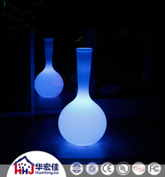 hotel led flower vase floor lamp battery powered with PE shade