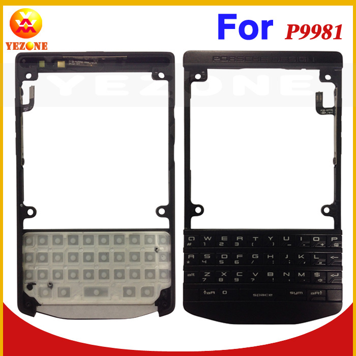 Yezone 10 Year Professional Wholesale For BlackBerry Porsche Design P9981 Front Housing Faceplate A Cover with keypad