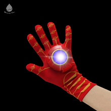 Imitation Wearable LED Iron Man Plastic Glove with Sound Party Favor Cosplay Prop led lighting party gloves