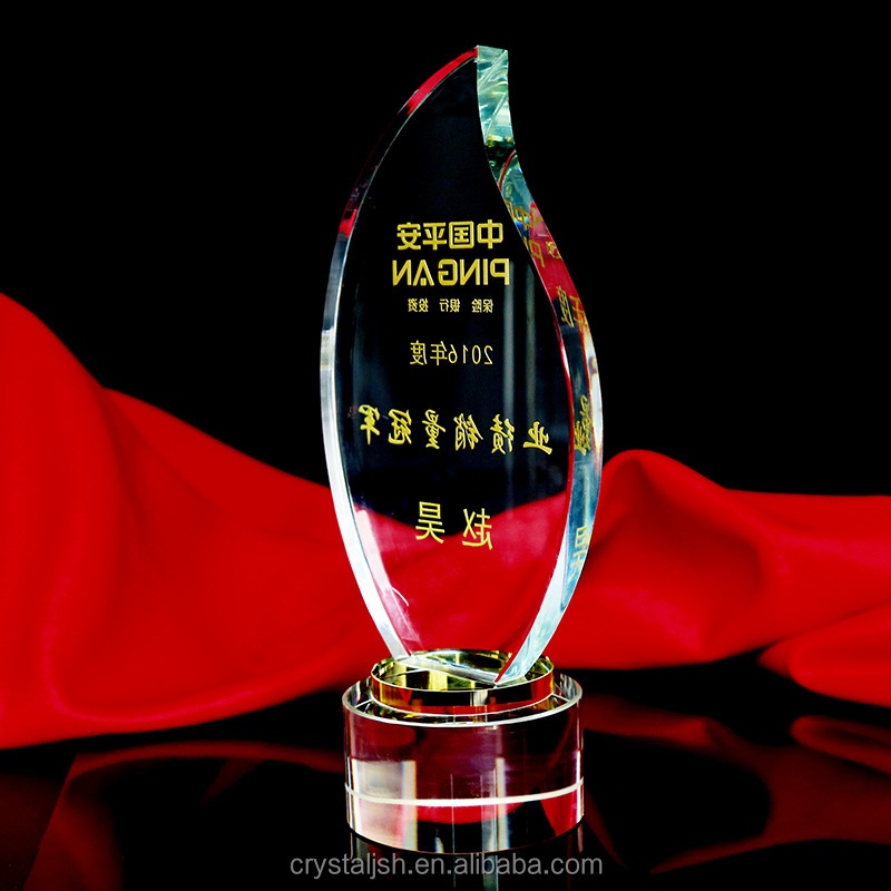Glass Flame Trophies for Successful Awards