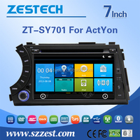 Best selling car accessories indash car radio for Ssangyong Rodius/Korando/Actyon car dvd with GPS Radio Audio SWC MP3 Mp4 BT5.0