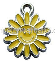 Fashion Costume Sunflower Enamelled Pendants for Necklace & Children Gifts