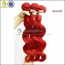 2015 factory directly selling cheap good quality brazilian red color hair
