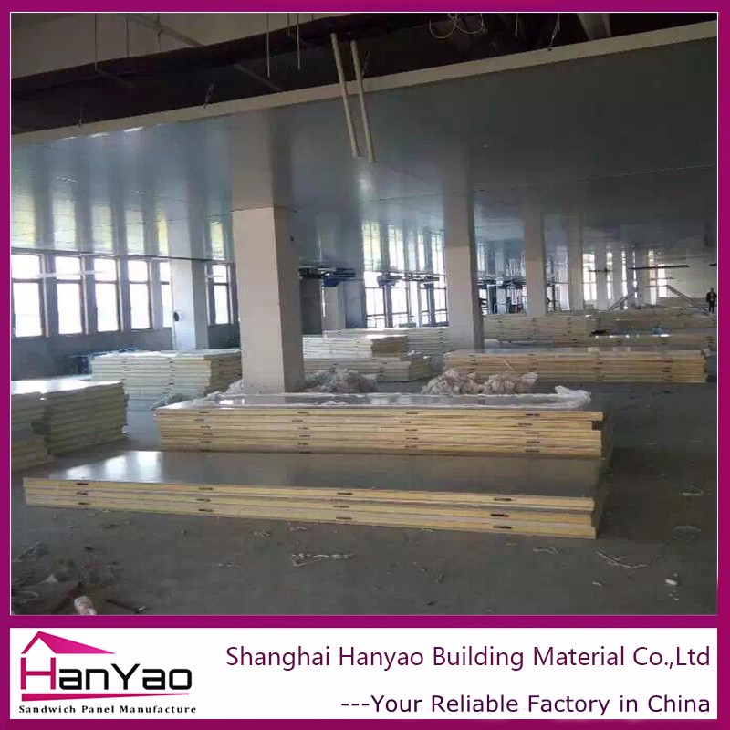 High Desity Eps Sandwich Wall Panels For Light Steel Structure Villa Prefabricated Sandwich Panels House For Dorm