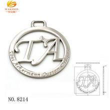 Bag Hardware Customized Brand metal engrave logo label for handbag accessories