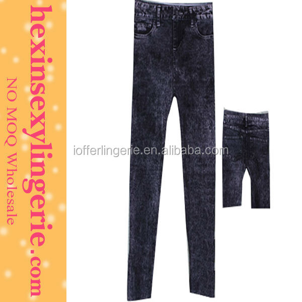 Hot sell denim men wide leg sex jeans legging pants jeans