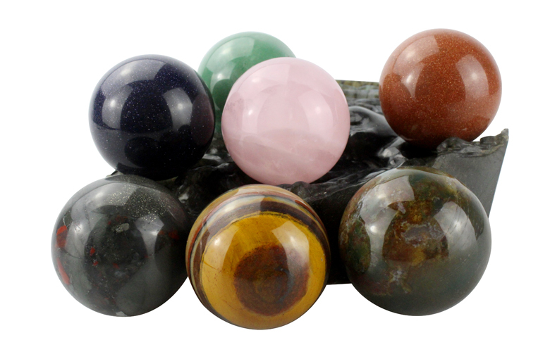 wholesale mixed gemstone quartz crystal ball sphere, natural gemstone ball sphere