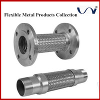 metal stainless steel flexible corrugated pipe for natural gas joint and water pump connection