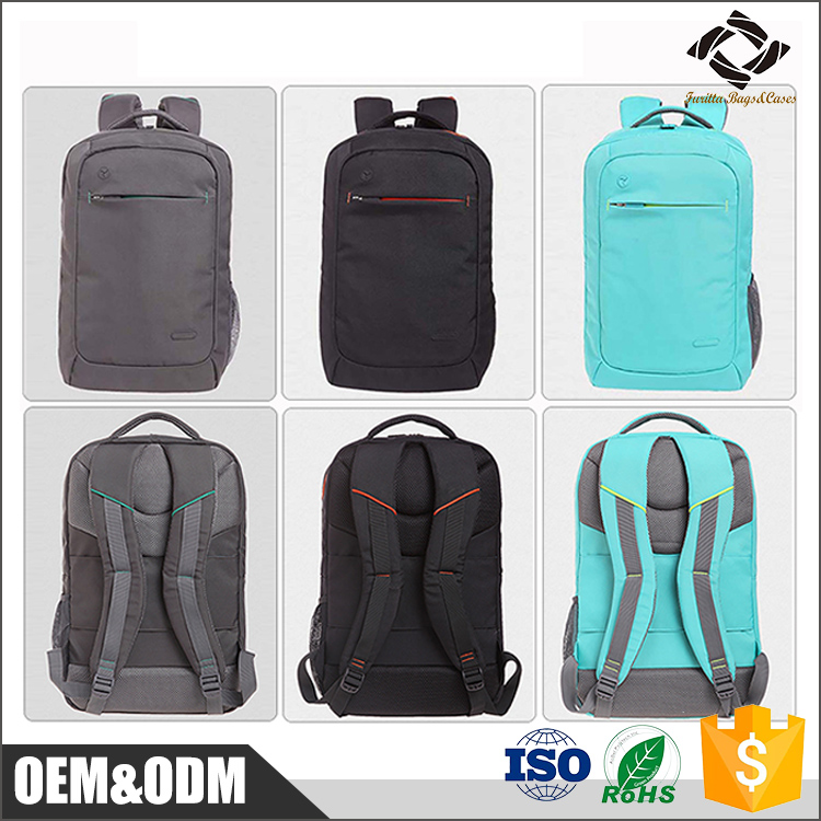 Hot sale custom multifunctional black nylon waterproof teenager school bag laptop backpack for 15 inch laptop