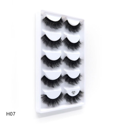 5 pairs / set korean thick fur mink lashes 3d mink eyelashes <strong>H07</strong>