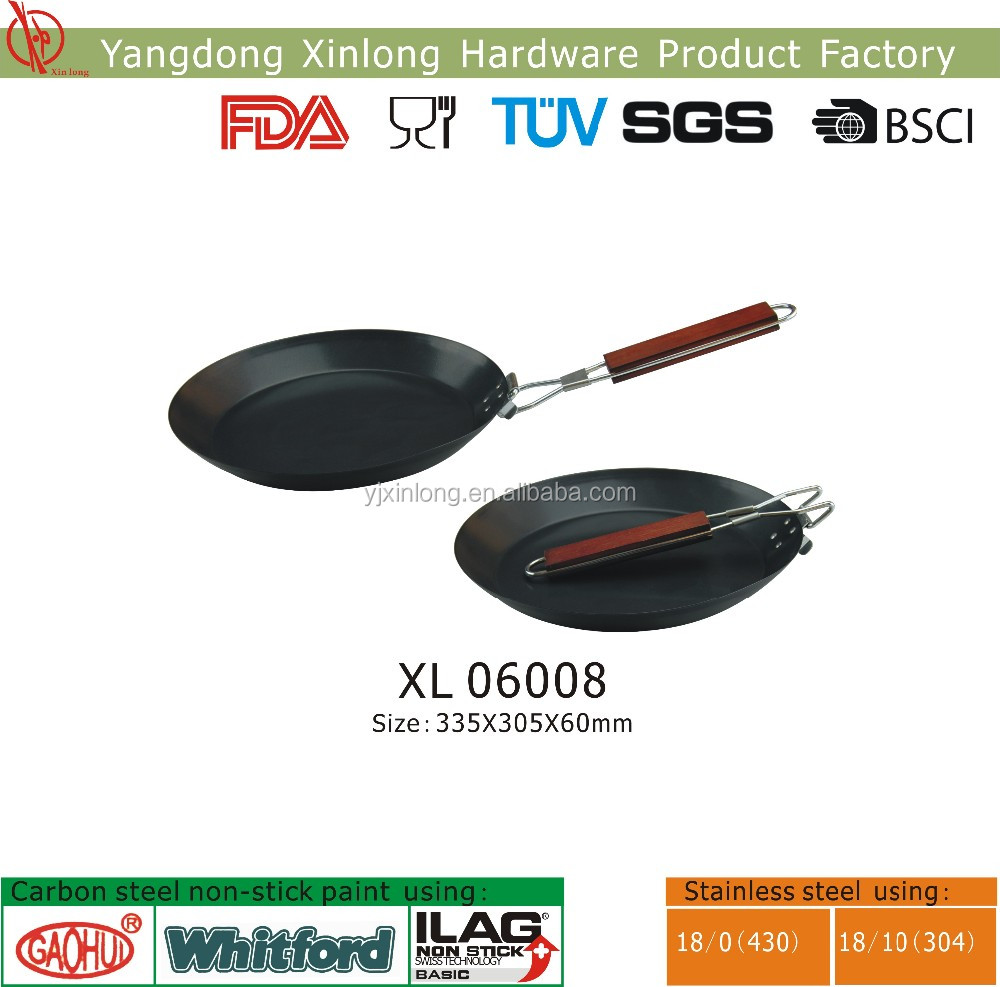 foldable nonstick frying pan for barbecue