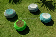 Endless two tone color combination rattan round stools or table seats for adults Outdoor/Indoor kids bedroom furniture
