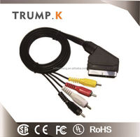 [TRUMP K for you ] Factory price 21pin scart to 4 rca plugs
