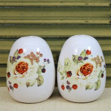 white design ceramic salt and pepper shakers wholesale