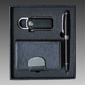 The traditional card holder gift set, business gift set for men, wallet gift set with pen