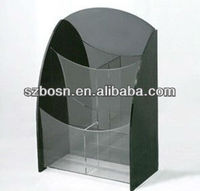 Clear acrylic brochure organizer; acrylic brochure dispenser, acrylic desktop Brochure display
