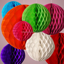 2016 Wholesale Wedding Table Centrepiece Honeycomb Tissue Paper Balls