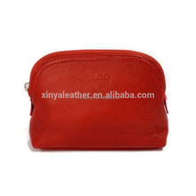 Hot popular red high quality PU Shiny leather ladies Cosmetic Bag