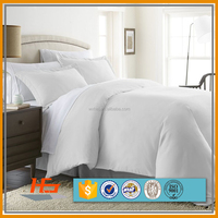 High quality White Microfiber Double Size Duvet Cover Set