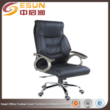 High back 360 degree swivel black leather boss executive office chair with castor wheels