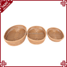Supermarket or home use woven rattan SGS food-safe food bread mushroom basket