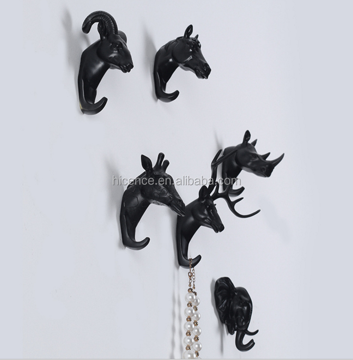 Unique Drip Shape Decorative Poly Material Wall Hook