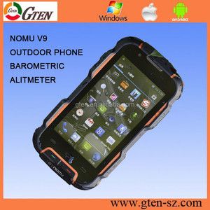 BEST PRICE 4.0INCH MTK6589 WALKIE TALKIE BAROMETRIC ALTIMETER RUGGED CELL PHONE nomu telefono movil
